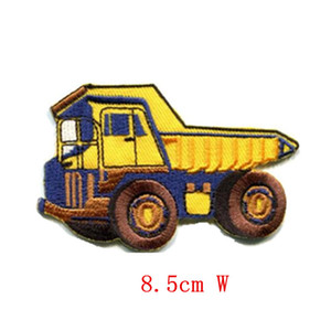 Wholesale Big cartoon Dump truck dumper old style tipper lorry Embroidered iron on patch Stickers Appliques Fabric Sewing patch