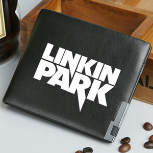 Wholesale Linkin Park wallet Hot band purse Music play short long cash note case Money notecase Leather burse bag Card holders