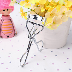 Wholesale-New arrival! Women Makeup Silicone Gasket Stainless Steel Eyelash Curler Cosmetic Beauty Tool