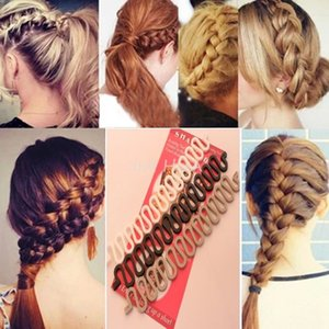 Wholesale New Women Fashion Accessories Hair Styling Clip Stick Bun Maker Braid Tool Hair R491