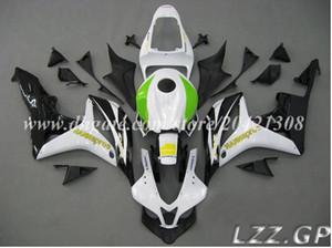 Injection fairings+tank for HONDA CBR600RR 07-08 CBR600RR F5 2007-2008 CBR600 RR 2007 2008 F5 fairing sets #k30d8 white black green