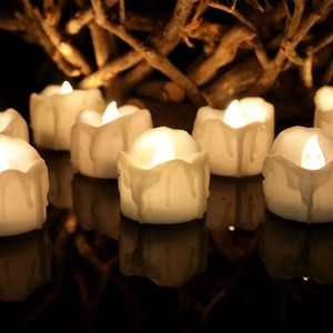 Wholesale Warm White Flickering Flameless Candles with Timer Christmas Wedding Party LED Candle Light Battery Operated Tea Lights Electronic Candles