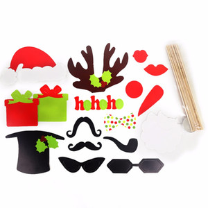 Wholesale 17styles of fun props Photo Booth Photography Props For Christmas Fun Funny Applicable Wedding party Photography