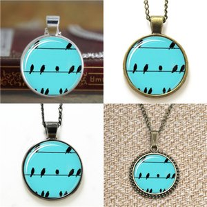 10pcs Birds on Wires Glass Photo Necklace keyring bookmark cufflink earring bracelet