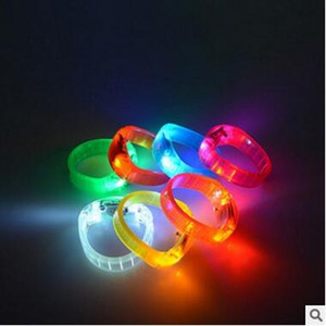 Wholesale Sound Control Led Flashing Bracelet Light Up Bangle Wristband Music Activated Night light Club Activity Party Bar Disco Cheer toy DHL
