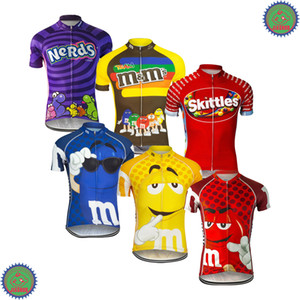 Wholesale Customized NEW FUNNY 2017 JIASHUO Cartoon CANDY Biking mtb road RACING Team Bike Pro Cycling Jersey   Shirts Clothing Breathing Air Chooses