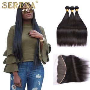 Wholesale 100 Malaysian Human Hair Bleached Knots Lace Frontals Closure x4 Swiss Lace Unprocessed Hair Frontal Closure With Baby Hair And Bundles