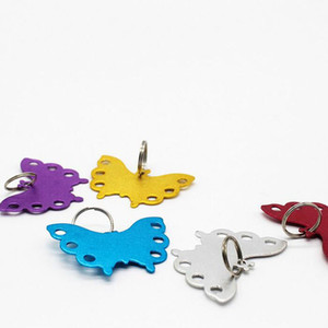 Wholesale Fashion Butterfly Shaped Aluminum Pet Tag Dog Cat ID Name Badges Address Label Animal Card ZA3967