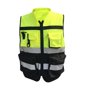 Reflective safety clothes Motorcycle Bicycle Racing High Visibility Reflective Warning Cloth Jacket Vest