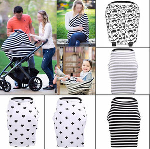 Wholesale baby car seats covers resale online - INS Baby Car Seat Canopy Cover Breastfeeding Nursing Scarf Cover Up Apron Shoping Cart Infant Stroller Sleep By Canopy OOA2319