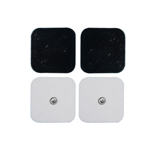 Conductive Electrodes Pads Use For TENS EMS Unit Size 2*2 inches With Button 3.5mm Electro Pads