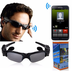Wholesale rode mic for sale - Group buy Upgrade Sunglasses Wireless Bluetooth Headset V4 Stereo Sports Music Driving Riding Sunglass Handsfree Earphones with MIC for iPhone