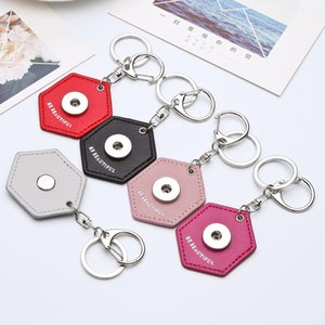 Wholesale hot silver pu leather keychain snap button key chains Be BEAUTIFUL pendant key rings