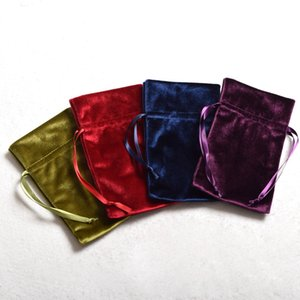 10pcs Lot Tarot Pouch Bag Drawstring Pouch for Cards Trinkets Gifts Dice Wicca Cosplay Props Green Red Blue Purple