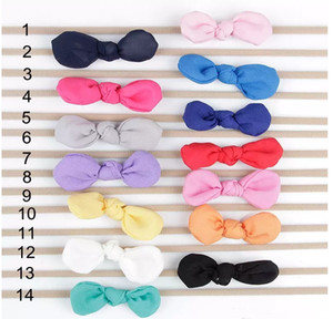 New Baby Headbands Bunny Ear Elastic Headband Children Kids Hair Accessories Fashion Hairbands Baby Girls Nylon Bow Headwear Headdress