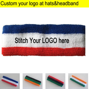 Adult Towel Headbands Sports Sweat Head wears terry knitted Headscarf Custom LOGO Apparel Accessories Hood sweatband from 50pcs