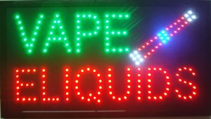 Wholesale 2017 New arriving super bright led open sign neon sign board open indoor use Vape E liquid sign