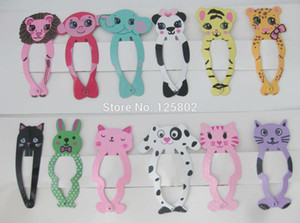Hj0065 Mixed Animal Cartoon Hairpins for Children Girls 6 Cards Fashion Hair Clip 50mm Long Hair Ornament