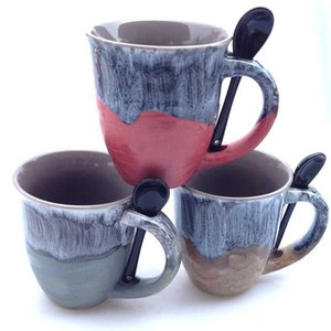 Wholesale Zakka Anti Export Mug Fambe Mugs High Capacity Exit Office Coffee Cup With Spoon Personality Cups Hot Sale md R