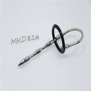 2017 Hot sales Urethral Sound set rubber Penis ring urethral dilators with ring BDSM bondage sex toys for male 816