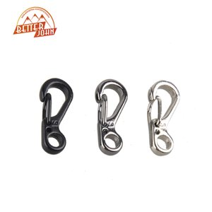 Wholesale Mini SF Spring Claps Climbing Carabiners Keychain Camping Bottle Hooks Backpack Climbing Claps Tactical Survival Gear