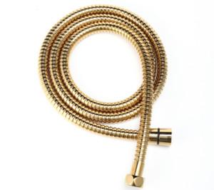 Golden Finish 1.5m 60 inches Stainless steel Flexible Bathroom Shower hose For handheld shower head
