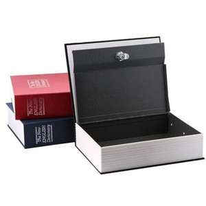 Wholesale 180x115x55mm Safe Box Simulation Dictionary Style Security Secret Book Case Cash Money Jewelry Storage Box Security Key Lock