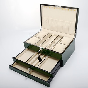 Wholesale High light piano paint Jewelry box jewel case accessories box Jewelry storage BoxCasket with drawer organizer watch jewelry box display