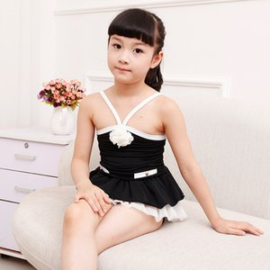 Wholesale Princess Swimming Suits Girls Swim Sets Two Pieces Bathing Suits Lace Edge Big Flower Hot Spring new Swimsuits Two Pieces A6052