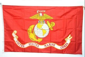 American Army USA United States Marine Corps - USMC Polyster flag banners DHL free