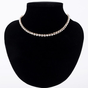 Wholesale day collars for women resale online - Hot Sale New Women Crystal Rhinestone Collar Necklace Necklaces for girl Wedding Birthday Jewelry N062