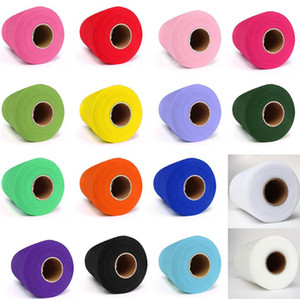 Wholesale Tulle Roll Spool quot x100yd Wedding Netting Sheer Decor Banner Garland Tassel Chair Bow Sash Diy Tutu Skirt Fabric Gift Craft Wrap favors