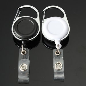Wholesale Retractable Pull Key Ring ID Badge Lanyard Name Tag Card Holder Recoil Reel Belt Clip Metal Housing Plastic Covers