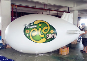4m 5m 6m PVC Inflatable Helium Zeppelin Printed Advertising Blimp Floating Balloon for Event and Parade