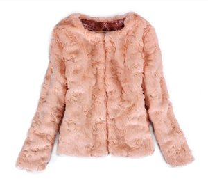 Wholesale Imitation rabbit hair short jacket Women's clothing 2017 new fashion imitation fur coat female short section winter clothes women coat