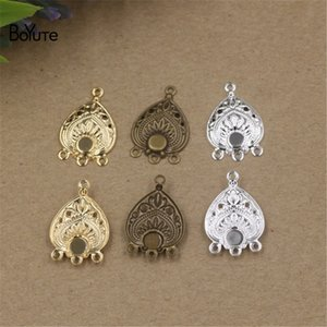 Wholesale BoYuTe New Product mm Metal Filigree Connectors with Loops Colors DIY Brass Jewelry Material