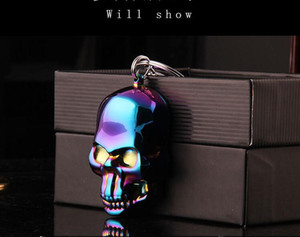 Wholesale vintage lighters for sale - Group buy New fashion Charge windproof lighter vintage carved skull mask eco friendly USB cigarette lighter with retail box