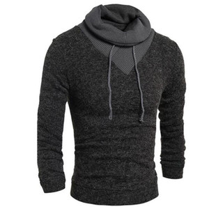 Wholesale Hoodies Men Fashion Winter Coats Long Sleeve Hoodie Men s Outer Wear Casual Slim Sweatshirts Turtleneck Men s Hoodies H7754