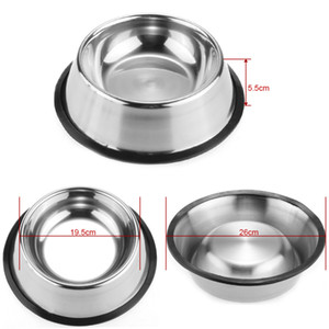 Wholesale Stainless Dog Bowl Pets Steel Standard Pet Dog bowls Puppy Cat Food or Drink Water Bowl Dish
