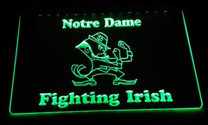Wholesale LS2147 g Notre Dame Fighting Irish LED Neon Light Sign Decor Dropshipping colors to choose