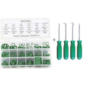 4pcs O Ring Seal Pick Hooks Puller Remover with Green 265pcs O-ring Tool Set Kit on Sale
