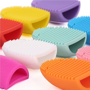 Wholesale Brushegg Pro Egg Cleaning Glove Makeup Washing Brush Cosmetic Clean Tools Brush Cleaner silicone sponge colors Brush Eggs