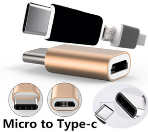 Wholesale High Quality Micro USB to Type C Adapter Type C Male to Micro USB Female Mini Metal Connector Converter for Samsung Galaxy S8 S7 Note8 HTC