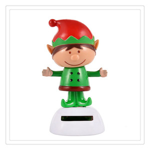 Wholesale High Quality Solar Powered Santa Snowman Dancing Wedding Decoration Deer Cool Car Solar Energy Dancing Toys Car Accessories