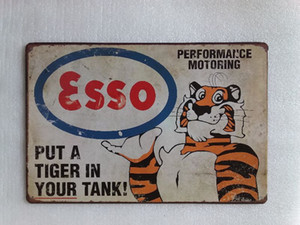 Wholesale tiger tanks for sale - Group buy Esso Put a Tiger in you tank Vintage home Bar Pub Hotel Restaurant Coffee Shop home Decorative Metal Retro Tin Sign