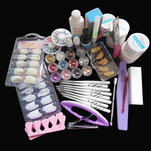 Wholesale New Kit Nail Art UV Gel Solid Extension Manicure set Builder Polish brush base coat top coat nail art set