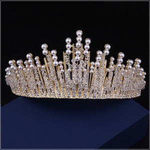 crowns tiaras beaded crown headpieces for wedding wedding headpieces headdress for bride dress headdress accessories party accessories on Sale