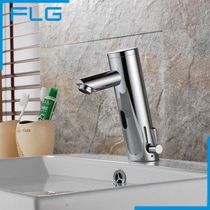 Wholesale Motion Sensor Faucet Automatic Hand Touchless Tap Hot Cold Mixer Bathroom Sink Infrared Faucet Mixer