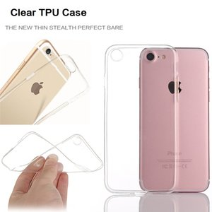 Wholesale Thick MM TPU Transparent Clear Case for iPhone X case Galaxy S8 Plus Soft Gel TPU Silicone Mobile Phone Back Cover DHL free SCA317