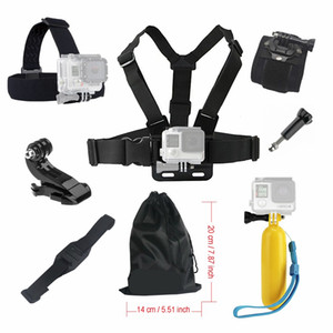 Wholesale For Gopro hero black Accessories set Floating Chest Head Hand Helmet Mount strap for Go pro SJCAM SJ4000 SJ5000X Action camera